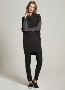 Mint Velvet Charcoal Zip Pocket Tunic Knit