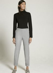 Mint Velvet Silver Grey Tailored Trouser