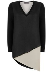 Mint Velvet Chalk Blocked Jersey Sleeve Tunic