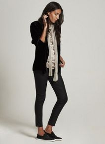 Mint Velvet Black Velvet Relaxed Boyfriend Jacket