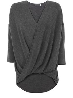 Charcoal Marl Wrap Front Top