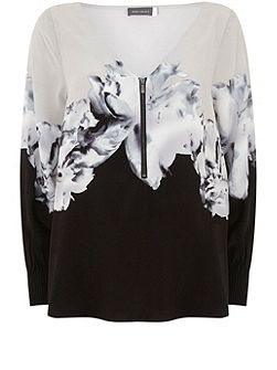 Petra Print Bishop Sleeve Blouse