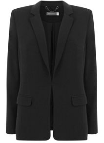 Mint Velvet Black Deconstructed Blazer