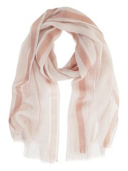 Powder Foil Border Scarf