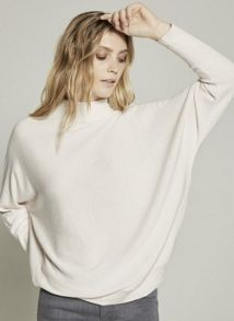 Mint Velvet Powder Grown on Neck Batwing Knit