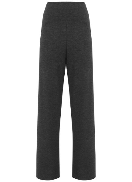 Mint Velvet Charcoal Jersey Wide Leg Trouser