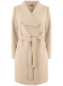 Mint Velvet Blush Wool Blend Funnel Neck Coat