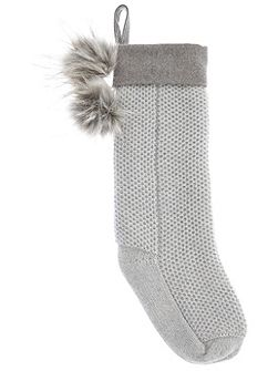 Silver Grey Christmas Stocking