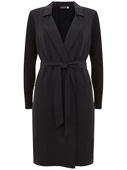 Black Longline Duster Cardigan