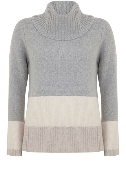 Mint Velvet Colour Block Cowl Neck Boxy Knit