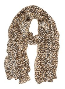 Mint Velvet Animal Print Scarf