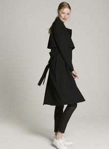 Mint Velvet Black Double Layer Trench