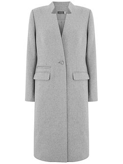 Silver Grey Clean Longline Coat