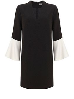 Black Blocked Sleeve Dress
