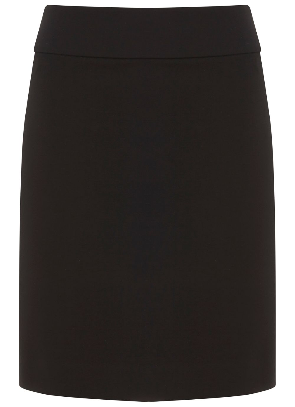 Mint Velvet Black Ponte Mini Skirt Black
