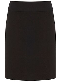 Black Ponte Mini Skirt