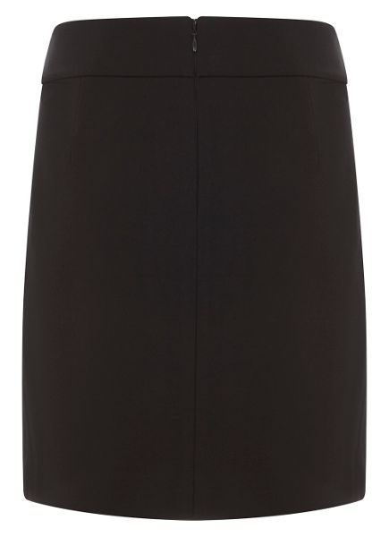 Mint Velvet Black Ponte Mini Skirt