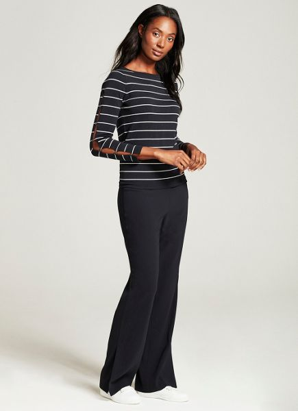 Mint Velvet Navy Stripe Split Sleeve Knit