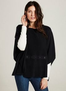 Mint Velvet Ink Knitted Rib Detail Cape
