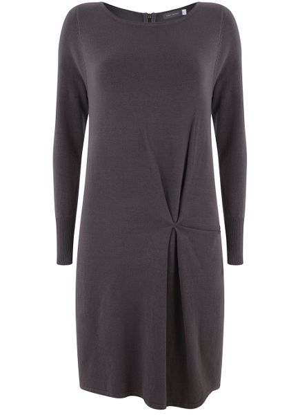Mint Velvet Smoke Knitted Tuck Dress