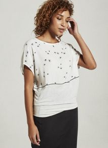 Mint Velvet Veola Printed Blocked Tee