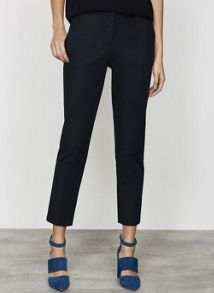 Mint Velvet Black Stretch Straight Leg Trouser