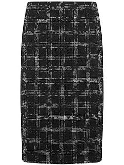Black Check & Lace Mix Skirt