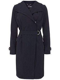 Ink Hooded Zip Trench