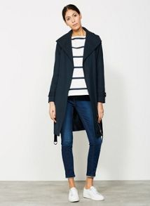 Mint Velvet Ink Hooded Zip Trench