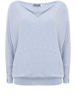 Cloud Split Sleeve Batwing Knit