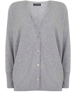 Silver Grey Cocoon Cropped Cardigan