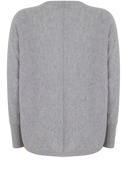 Mint Velvet Silver Grey Cocoon Cropped Cardigan