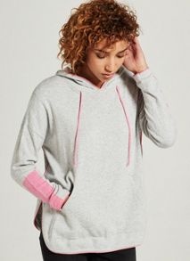 Mint Velvet Silver Grey & Pink Tipped Sporty Knit