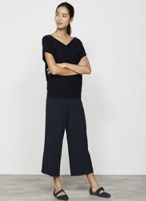 Mint Velvet Ink Luxe Side Split Crop Trouser