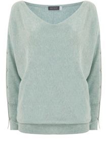 Mint Velvet Spearmint Split Sleeve Batwing Knit