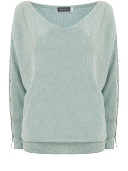 Spearmint Split Sleeve Batwing Knit