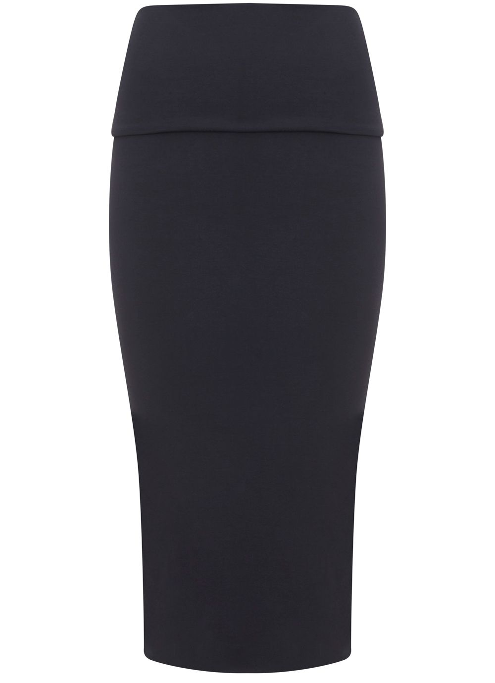 Mint Velvet Navy Fold Over Midi Skirt, Blue