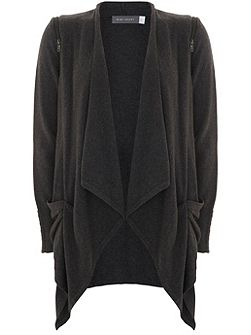 Carbon Draped Front Cardigan