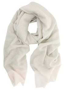 Mint Velvet Grey & Candy Floss Woven Stripe Scarf