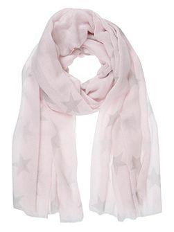 Candy Floss Star Print Scarf