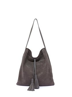 Steel Flo Tassel Fold Over Tote