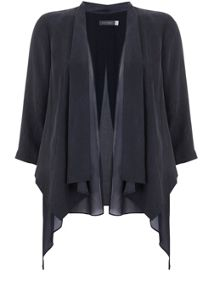 Mint Velvet Navy Double Layer Organic Jacket