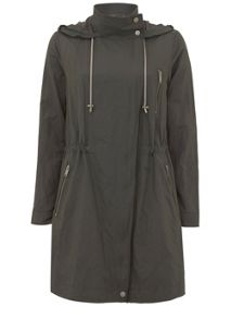 Mint Velvet Khaki Metallised Parka