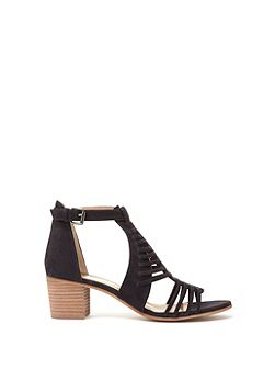 Navy Robyn Caged Low Sandal