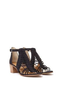 Mint Velvet Navy Robyn Caged Low Sandal
