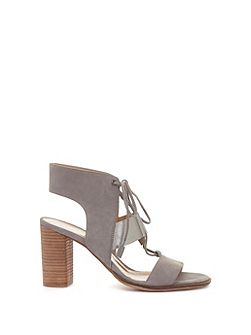 Grey Kara Lace Heeled Sandal