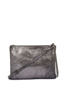 Mint Velvet Khaki Lottie Metallic Cross Body Bag