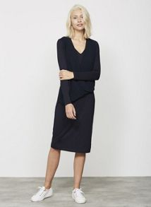 Mint Velvet Ink Wrap Front Jersey Dress
