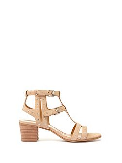 Natural Wendy Stud Sandal