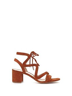 Rust Tillie Lace Up Low Sandal